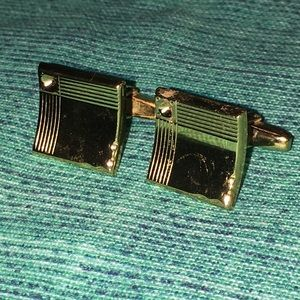 Other - Vintage-costume gold cuff links.